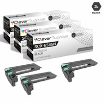 Compatible Samsung SCX-D6555A High Yield Laser Toner Cartridge Black 3 Pack