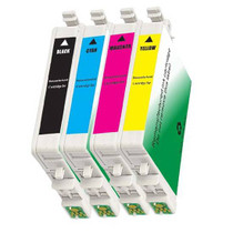 4 PACK : EPSON T060 COMPATIBLE SERIES INCLUDES - 1 BLACK/ 1 CYAN/ 1 MAGENTA/ 1 YELLOW