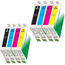 8 PACK : EPSON T060 COMPATIBLE SERIES INCLUDES - 2 BLACK/ 2 CYAN/ 2 MAGENTA/ 2 YELLOW
