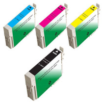 Compatible 4 PACK : EPSON T069 SERIES INCLUDES - 1 BLACK/ 1 CYAN/ 1 MAGENTA/ 1 YELLOW