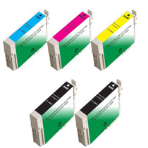Compatible 5 PACK : EPSON T069 SERIES INCLUDES - 2 BLACK/ 1 CYAN/ 1 MAGENTA/ 1 YELLOW