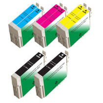 Compatible 8 PACK : EPSON T069 SERIES INCLUDES - 2 BLACK/ 2 CYAN/ 2 MAGENTA/ 2 YELLOW