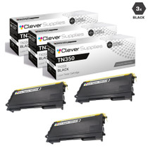 Brother TN350 Laser Toner Compatible Cartridge Black 3 Pack