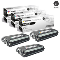 Premium Brother TN650 Laser Toner Compatible Cartridge High Yield Black 3 Pack