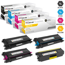 Brother TN315 Toner High Yield Cartridge 4 Color Set-Compatible (TN315BK/ TN315C/ TN315M/ TN315Y)