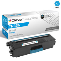 Brother TN336C Laser Toner Compatible Cartridge High Yield Cyan