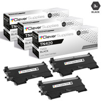 Compatible Brother TN420 Toner Cartridge 3 Black Set