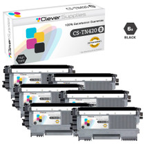 Compatible Brother TN420 Toner Cartridge 6 Black Set
