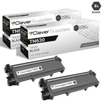 Compatible Brother TN630 Toner Cartridge 2 Black Set