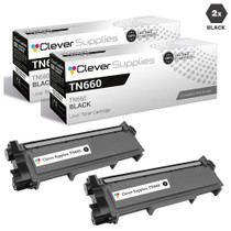Brother TN660 Toner Compatible Cartridge High Yield Black 2 Pack