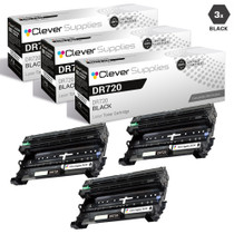 Brother TN720 Laser Toner Compatible Cartridge Black 3 Pack