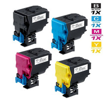 Compatible Konica Minolta TNP-22 Premium Quality Laser Toner Cartridges 4 Color Set (A0X5132/ A0X5432/ A0X5332/ A0X5232)
