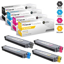 Okidata Type C14 Laser Toner Cartridges Compatible 4 Color Set (44059112/ 44059111/ 44059110/ 44059109)
