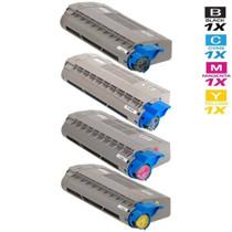 Compatible Okidata Laser Toner Cartridges 4 Color Set (44318604/ 44318603/ 44318602/ 44318601)