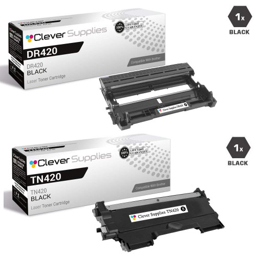 Brother DR420-TN420 Black Drum and Toner Cartridges