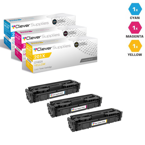 HP 201A Laser Toner Cartridges Compatible 3 Color Set (CF401A/ CF403A/ CF402A)