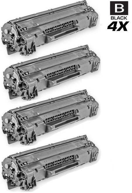 CS Compatible Replacement for HP CE285A Premium Quality Toner Cartridge Black 4 Pack/ HP 85A