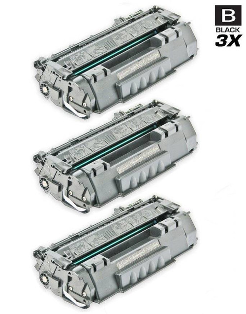 CS Compatible Replacement for HP CE505A Premium Quality Toner Cartridge Black 3 Pack/ HP 05A