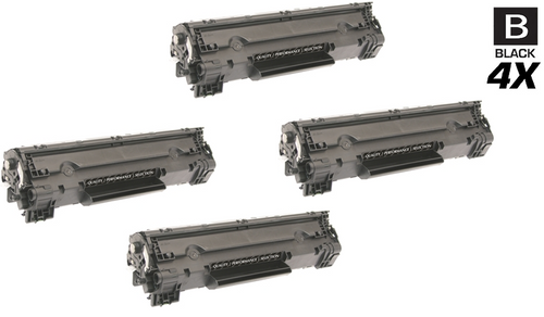 HP CF283A Premium OEM Quality Toner Compatible Cartridge Black 4 Pack/ HP 83A