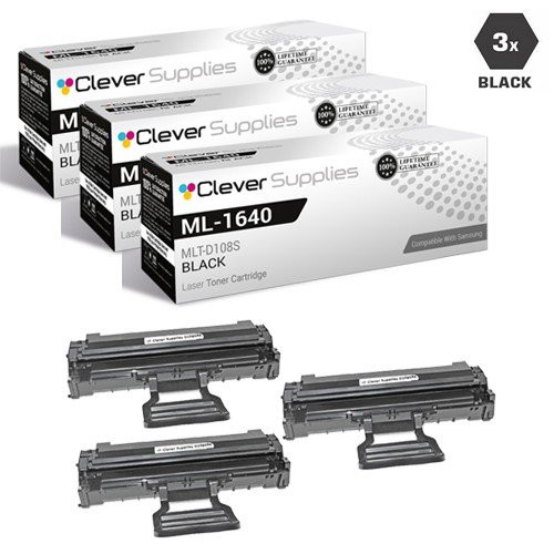 Samsung MLT-D108S Compatible Laser Toner Cartridge Black 3 Pack
