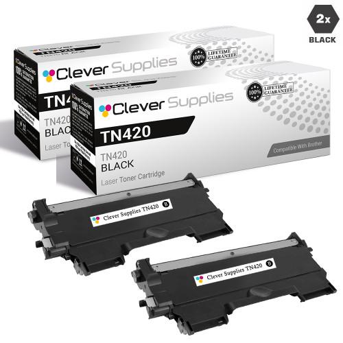 Brother TN420 Toner Cartridge 2 Black Set