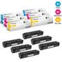 CS Compatible Replacement for HP 201X Laser Toner Cartridges High Yield 2 X CMY - 6 Color Set (CF401X/ CF403X/ CF402X)