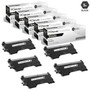 Compatible Brother TN420 Toner Cartridge 5 Black Set