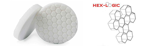 "Chemical Guys 4"" HEX LOGIC Pad WHITE MEDIUM LIGHT POLISHING PAD (4""inch)"