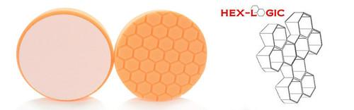 "4"" HEX LOGIC Pad ORANGE MEDIUM-HEAVY CUT SCRATCH & SWIRL REMOVER Pad- (4""inch)"