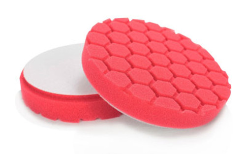 "Chemical Guys 6.5"" HEX LOGIC RED PERFECTION MICRO-FINE FINISHING PAD for SEALANTS AND PASTE WAXES (6.5""inch)"