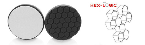 """Chemical Guys 6.5"""" HEX LOGIC Pad BLACK FINISHING PAD WAXES & CLEANERS WAXES (6.5""""inch)"""