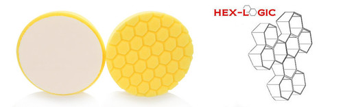 "Chemical Guys 6.5"" HEX LOGIC  Pads Yellow Cutting Pad- Chemical Guys premium Pads (6.5""inch)"