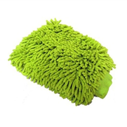 "Chemical Guys CHENILLE THICK & PLUSH LIME GREEN MICROFIBER MITT 7""X9"" GREEN"