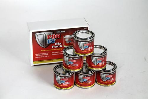 POR15 6-Pack Black Rust Preventive Paint Kit