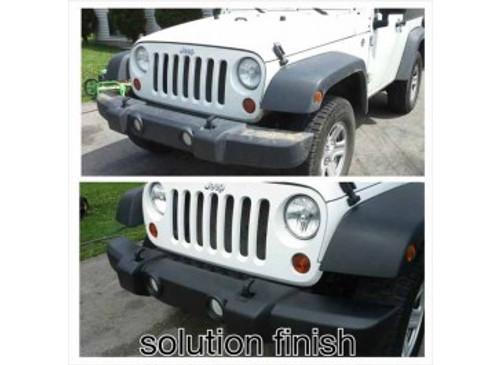 Solution Finish Black Trim Restorer for Plastic Bumper and Vinyl (1oz)