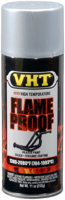 VHT Flat Silver Flame Proof Paint (312g)