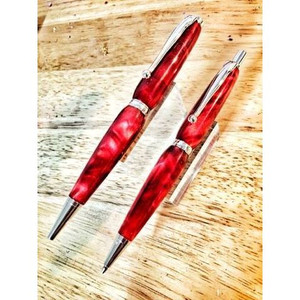 Passion Red Pen and Mechanical Pencil Set