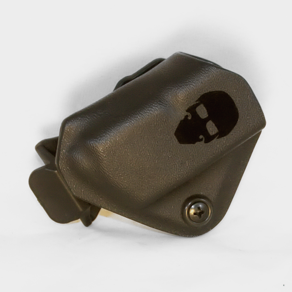 Custom Kydex Mag Carrier - Outside the Waistband (OWB) - Front - Black