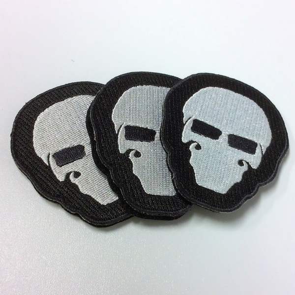 """Black """"Murdered Out"""" Garry Patches"""