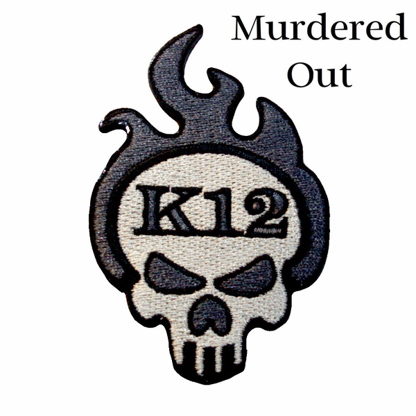 "K12 Logo Patch - ""Murdered Out"""