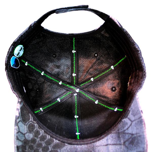 GFT Logo Velcro Tactical Ball Cap - Kryptek Typhon - Bottom View
