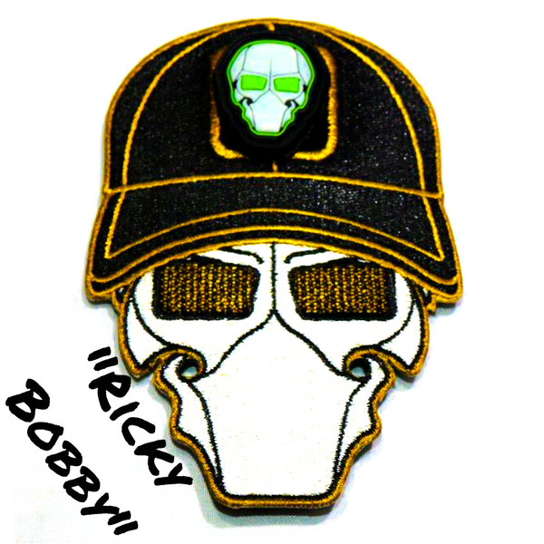 Ricky Bobby Ball Cap Logo Patch with GFT Ranger Eye Patch
