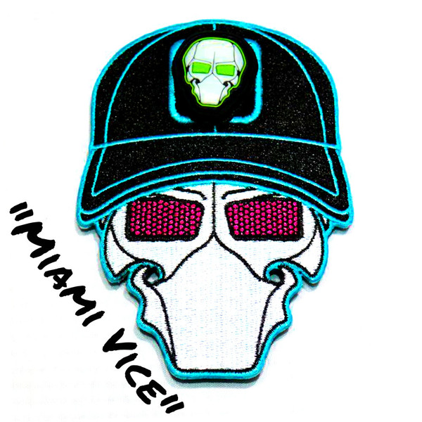 Miami Vice Ball Cap Logo Patch with GFT Ranger Eye Patch