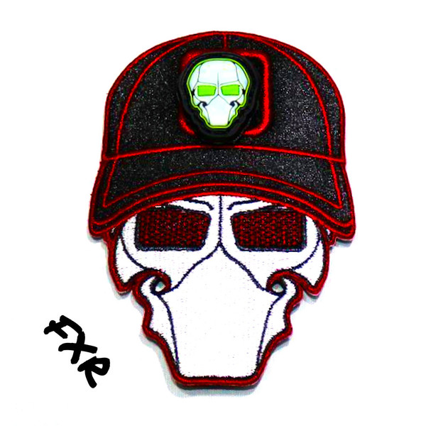 FXR Red Ball Cap Logo Patch with GFT Ranger Eye Patch