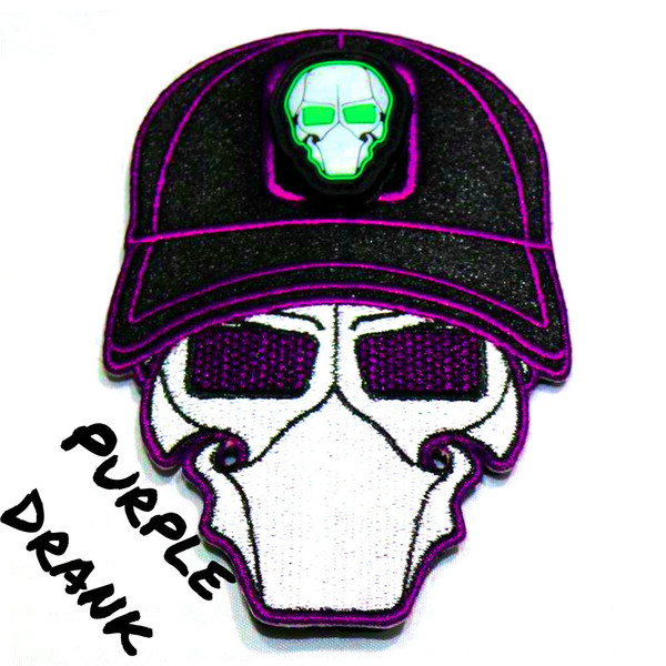 Purple Drank Ball Cap Logo Patch with GFT Ranger Eye Patch