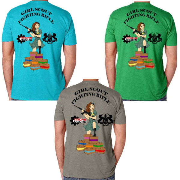 Girl Scout Fighting Rifle Fund Raiser T-Shirt