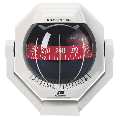 Plastimo Contest 130 Compass with bracket - White