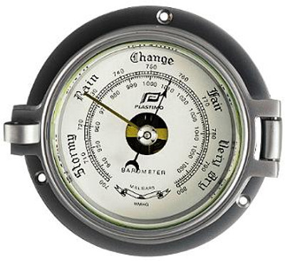 "Plastimo 3"" Barometer Hinged Chrome/Matt Chrome"