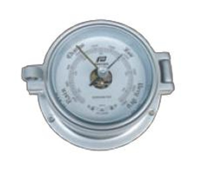 "Plastimo 4 1/2"" Barometer Hinged Matt Chrome"