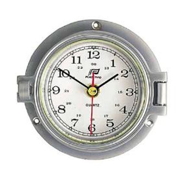 "Plastimo 3"" Clock Hinged Chrome/Matt Chrome RN"